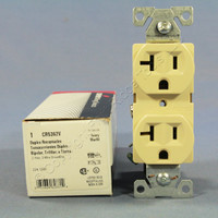 Cooper Ivory Construction Grade Duplex Receptacle Outlet NEMA 5-20R 20A 125V CR5362V