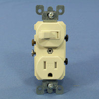 Leviton Almond TAMPER RESISTANT COMMERCIAL Wall Toggle Light Switches Outlet Receptacle 15A T5225-A