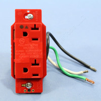 Cooper ISOLATED Ground Hospital Grade Surge Suppressor Receptacle Outlet NEMA 5-20R 20A IG1310RD IG1310 Red