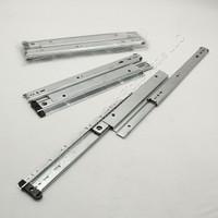"2-Pair GlideRite Hardware 16"" Side Mount 150lb Load Capacity Full Extension Standard Drawer Slides Ball Bearing 1680ZC"