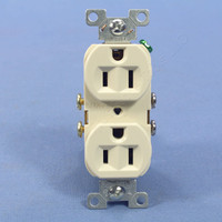 Cooper Light Almond COMMERCIAL Grade Straight Blade Outlet Receptacle NEMA 5-15R 15A 125V Bulk CR15LA