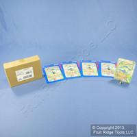 5 Leviton Seashells 1-Gang Wall Plate Toggle Switch Cover Switchplates 89001-SHL