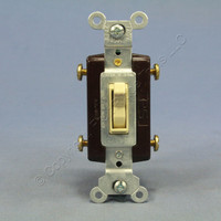 New Pass and Seymour Ivory 4-WAY COMMERCIAL Toggle Wall Light Switch 15A 664-IG