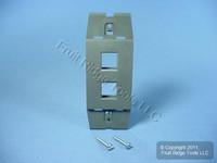 Leviton Quickport Slate Gray Acenti 2-Port Wallplate Insert AC642-SLT