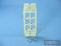 Leviton Quickport Driftwood Acenti 6-Port Wallplate Insert AC646-DFT