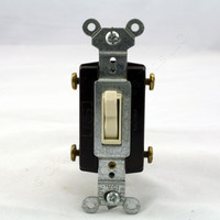 Pass and Seymour Light Almond 4-WAY COMMERCIAL Toggle Wall Light Switch 15A 120/277V Bulk 664-LA