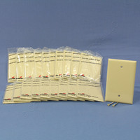 20 Cooper Commercial Ivory Unbreakable Mid-Size 1-Gang Blank Wallplate Covers PJ13V