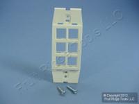 Leviton Quickport Sand Acenti 6-Port Wallplate Insert AC646-SND