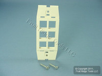 Leviton Quickport Quartz Acenti 6-Port Wallplate Insert AC646-QTZ