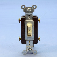 Pass and Seymour Ivory 4-WAY COMMERCIAL Toggle Wall Light Switch 15A Bulk 664-I