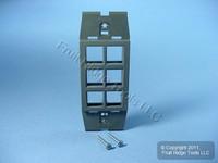 Leviton Quickport Slate Gray Acenti 6-Port Wallplate Insert AC646-SLT