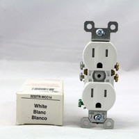 Pass & Seymour White Tamper Resistant Receptacle Outlet 15A 5-15R 3232TR-WCC14