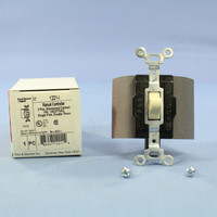 Pass and Seymour Ivory SPDT DOUBLE THROW Center-Off Maintained Contact Switch 15A 1281-I