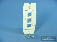New Leviton Acenti Quickport Sand 1-Gang 3-Port Wallplate Insert Cover AC643-SND