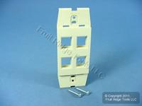 New Leviton Acenti Quickport Driftwood 1-Gang 4-Port Wallplate Insert AC644-DFT