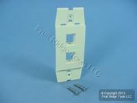Leviton Quickport Driftwood Acenti 2-Port Wallplate Insert AC642-DFT