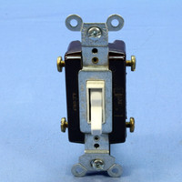 Pass and Seymour White 4-WAY COMMERCIAL Toggle Wall Light Switch 15A 120/277V Bulk 664-WG