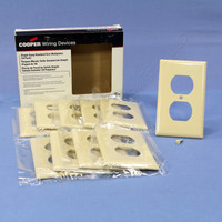 10 Cooper Ivory UNBREAKABLE Thermoplastic Nylon Receptacle Wallplate Covers 5132V