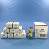 10 Pass & Seymour Ivory Double Toggle Wall Light Duplex Switches 15A 120/277VAC 690-IG