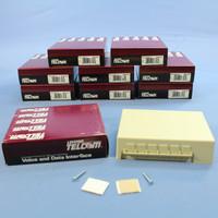 10 Leviton Ivory 12-Port Surface Mount Phone Jacks Telephone Data Block 45001-I