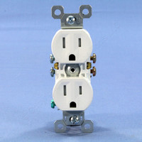 Pass & Seymour White Tamper Resistant Receptacle Outlet 15A 5-15R Bulk 3232TR-W