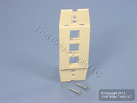 New Leviton Quickport Driftwood Acenti 3-Port Wallplate 1-Gang Insert AC643-DFT