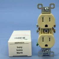 Pass & Seymour Ivory Tamper Resistant Duplex Receptacle Outlet 15A 5-15R 3232TR-ICC14
