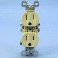 Pass & Seymour Ivory Tamper Resistant Receptacle Outlet 15A 5-15R Bulk 3232TR-I