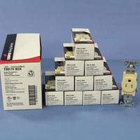 10 Cooper Ivory TAMPER RESISTANT Commercial Single Receptacles NEMA 5-15R 15A TR817V
