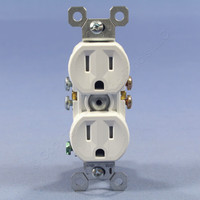 Pass & Seymour White Tamper Resistant Receptacle Outlet 15A 5-15R Bulk 3232TR-WCC14