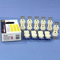10 Cooper Almond TAMPER RESISTANT Duplex Receptacle Outlets NEMA 5-15R 15A 125V TR270A