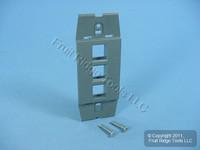 Leviton Quickport Slate Gray Acenti 3-Port Wallplate Insert AC643-SLT