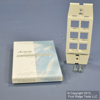 Leviton Quickport Natural Acenti 1-Gang 6-Port Wallplate Cover Insert AC646-NTL