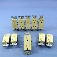 10 Cooper Ivory TAMPER RESISTANT Duplex Receptacle Outlets NEMA 5-15 15A TR1107V