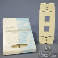 Leviton Quickport Natural Acenti 2-Port Wallplate Insert AC642-A