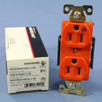 Cooper Arrow Hart Orange ISOLATED GROUND Receptacle Duplex Outlet 15A AHIG5262RN