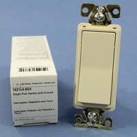 Cooper Light Almond COMMERCIAL Decorator Quiet Rocker Light Switch 20A 120/277V 7621LA