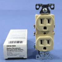 New Cooper Ivory COMMERCIAL Grade Outlet Receptacle NEMA 5-15R 15A 125V CR15V