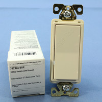 Cooper Light Almond COMMERCIAL Decorator 3-Way Rocker Light Switch 20A 120/277V 7623LA