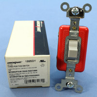 Cooper SPDT Double Throw Center Off Momentary Contact Toggle Switch 20A 1995GY