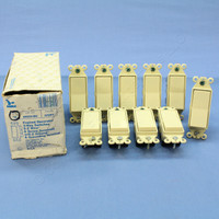 10 Eagle Ivory Framed 3-WAY Decorator Rocker Wall Light Switches 15A 120/277V 6603V