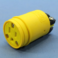 Cooper Yellow Industrial Insulated Female Straight Blade Connector 15A 125V NEMA 5-15R 1547
