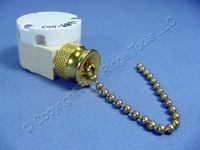 Canopy Pull Chain Rotary Appliance Switch 3-Speed 2-Circuit 1689 Brass No Leads