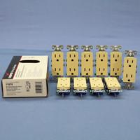 10 Cooper Ivory Decorator Receptacle Duplex Outlets NEMA 5-15R 15A 125V 1107V