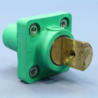 Leviton Green ECT 16 Series Single Pole Cam Receptacle Half Round Terminal Female Panel Outlet Continuous 400A 16R20-G