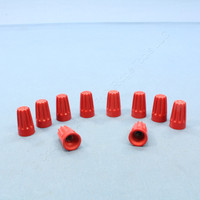 10 Leviton Red Large Size Twist-on Wire Connectors for 18-8 Gauge Wire 12776