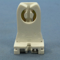 Leviton Fluorescent Lamp Holder T-8 T-12 Light Socket G13 Base T8 T12 Medium Bi-Pin Tall Profile Shunted 23357