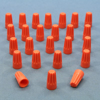25 Leviton Orange Small Size Twist-on Wire Connectors for 18-14 Gauge Wire 12774
