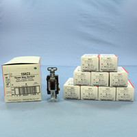 10 Pass & Seymour Brown 3-Way INDUSTRIAL Grade Toggle Wall Light Switches 15A 120/277V AC 15AC3