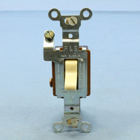Pass and Seymour Ivory COMMERCIAL GRADE Shallow AC Toggle Wall Light Switch 15A 120V 111-I